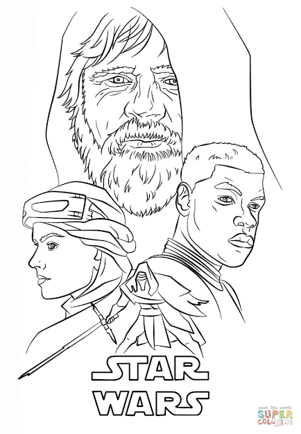 Click The The Force Awakens Poster Coloring Pages