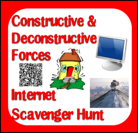 Free download - constructive and deconstructive forces internet scavenger hunt - 3 variations including a QR code version. From Raki's Rad Resources