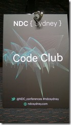 Code Club registration badge