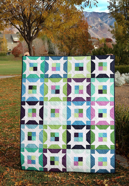 Little Miss quilt pattern by Andy of A Bright Corner - perfect precut pattern
