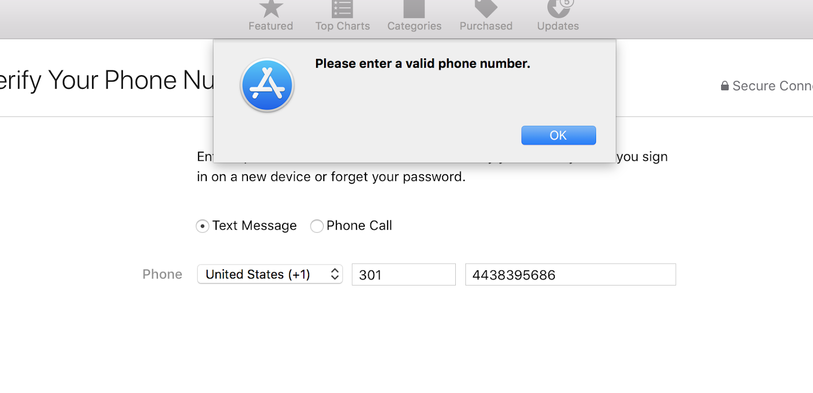 When I try to create a new Apple ID, why my phone number is