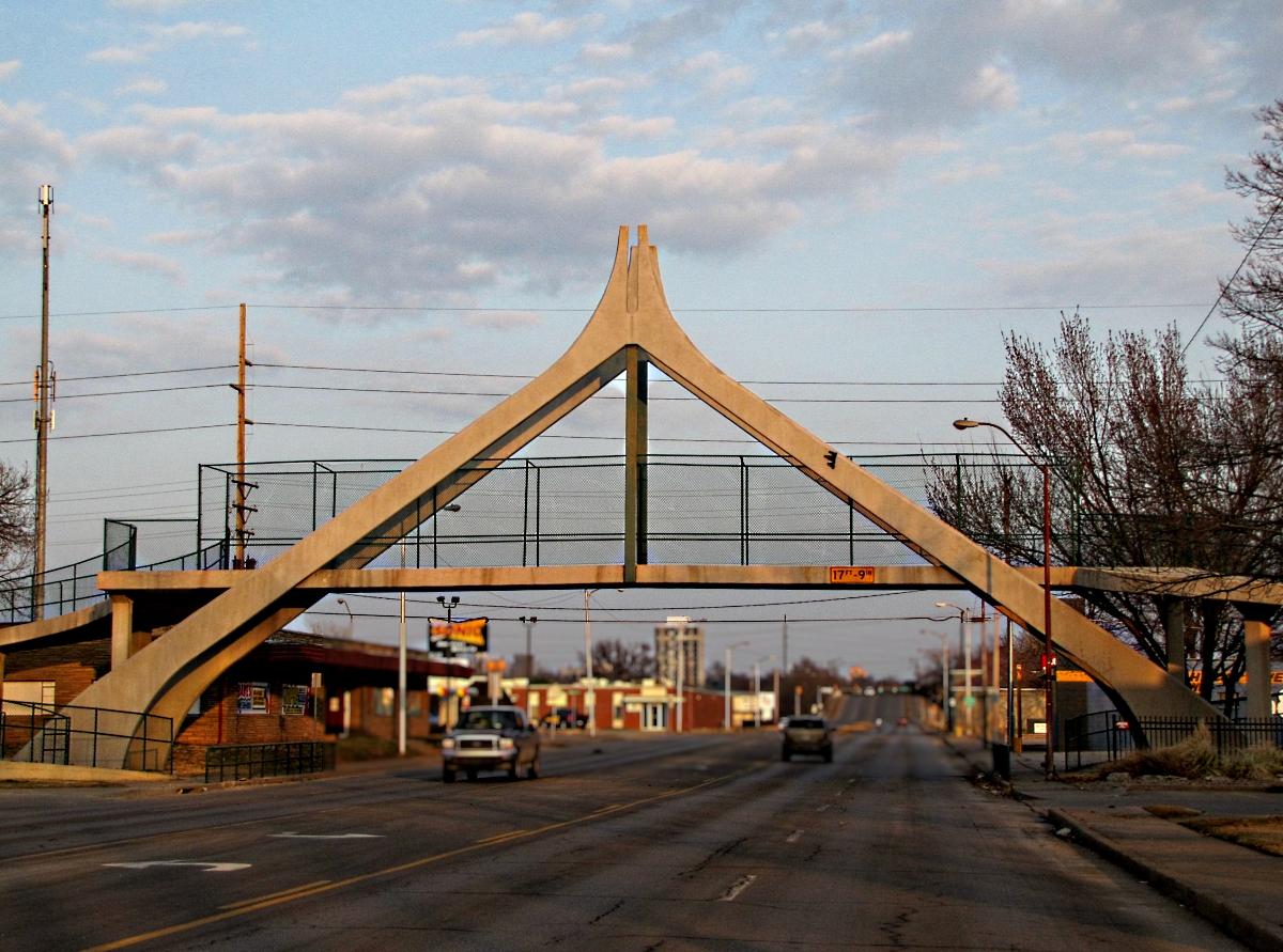 Tulsa Gentleman Sunday Bridges Pedestrian Bridge Over