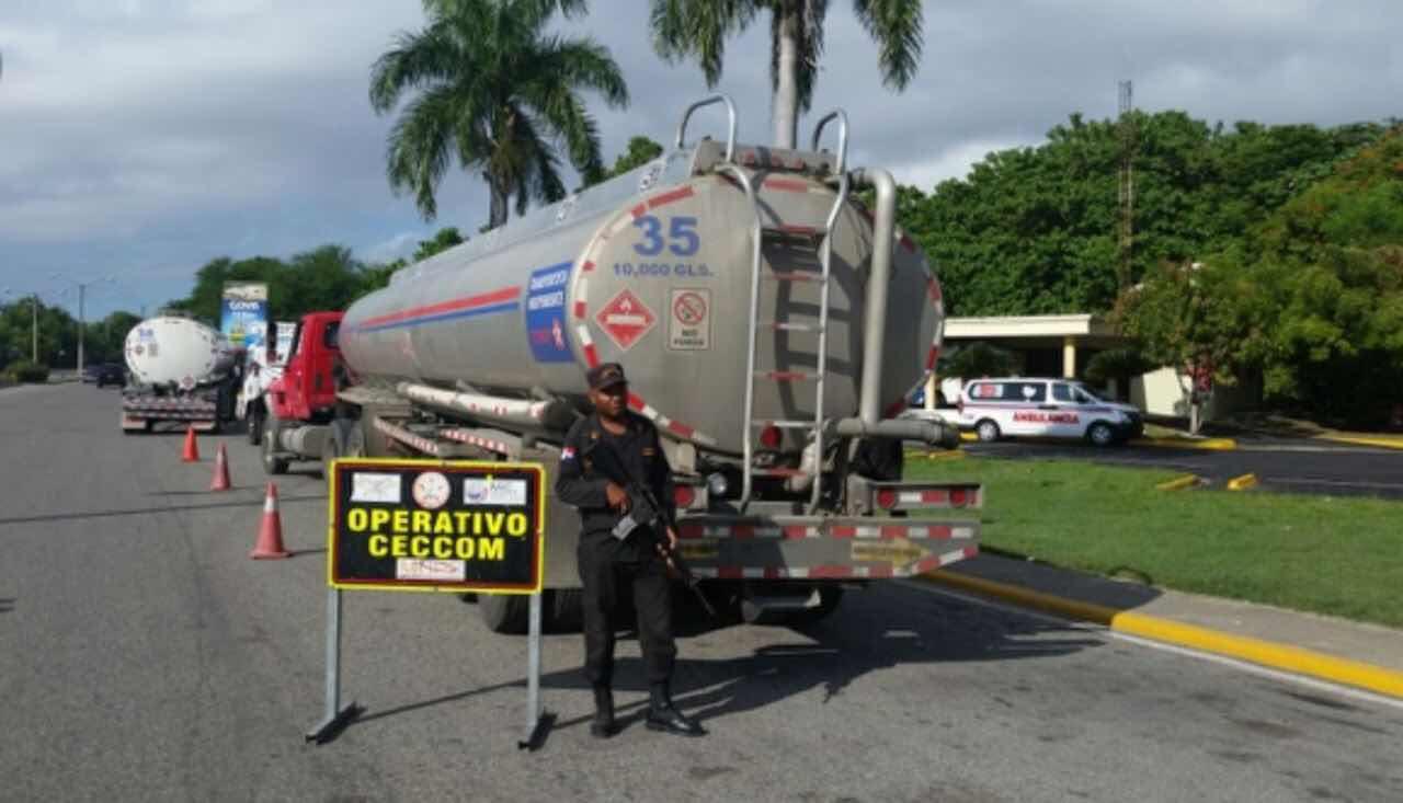 CECCOM inspeccionó mas de ochenta camiones en los cinco principales peaje de la ciudad de Santo Domingo durante la Semana Santa