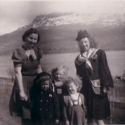 Mamma og tante Alvilde