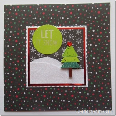 Black Let It Snow Card.