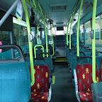 Het interieur van de vdl ambassador van Connexxion bus T 4269 met lijn 999 NS vervoer