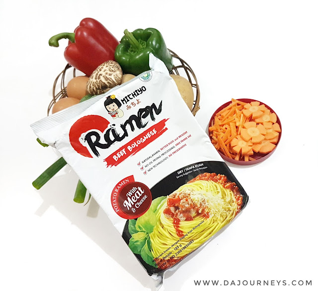 Review Michiyo Ramen Beef Bolognese