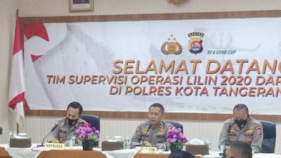 Polresta Tangerang Terima Kunjungan dari Tim Supervisi SOPS Mabes Polri