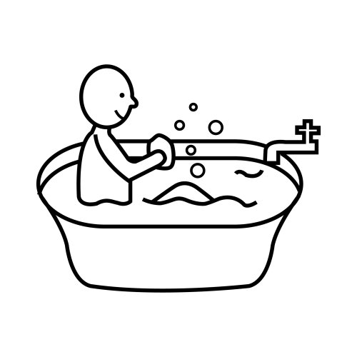 Baños Infantiles Para Colorear:Bathtub Coloring Page