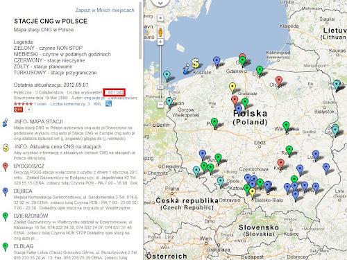Cng Auto Pl Mapa Stacji Cng W Polsce Ma Juz 1 000 000 Wyswietlen