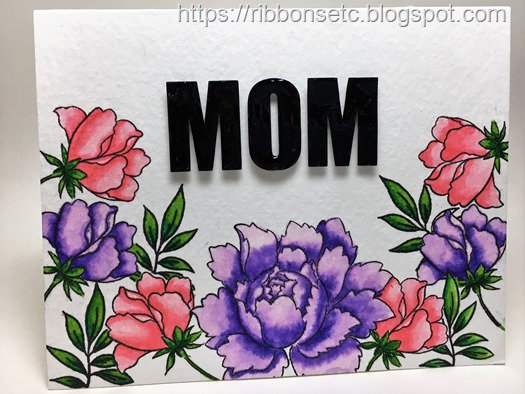 Mother's day card with Altenew Peony bouquet stamp set