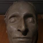 Site musée national de Port Royal des Champs : musée, masque funéraire de Pascal (plâtre patiné)