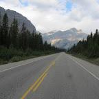 Icefield Parkway (Highway 93) auf dem Weg zum Columbia Icefield