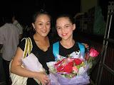 Bethanie with her dance teacher