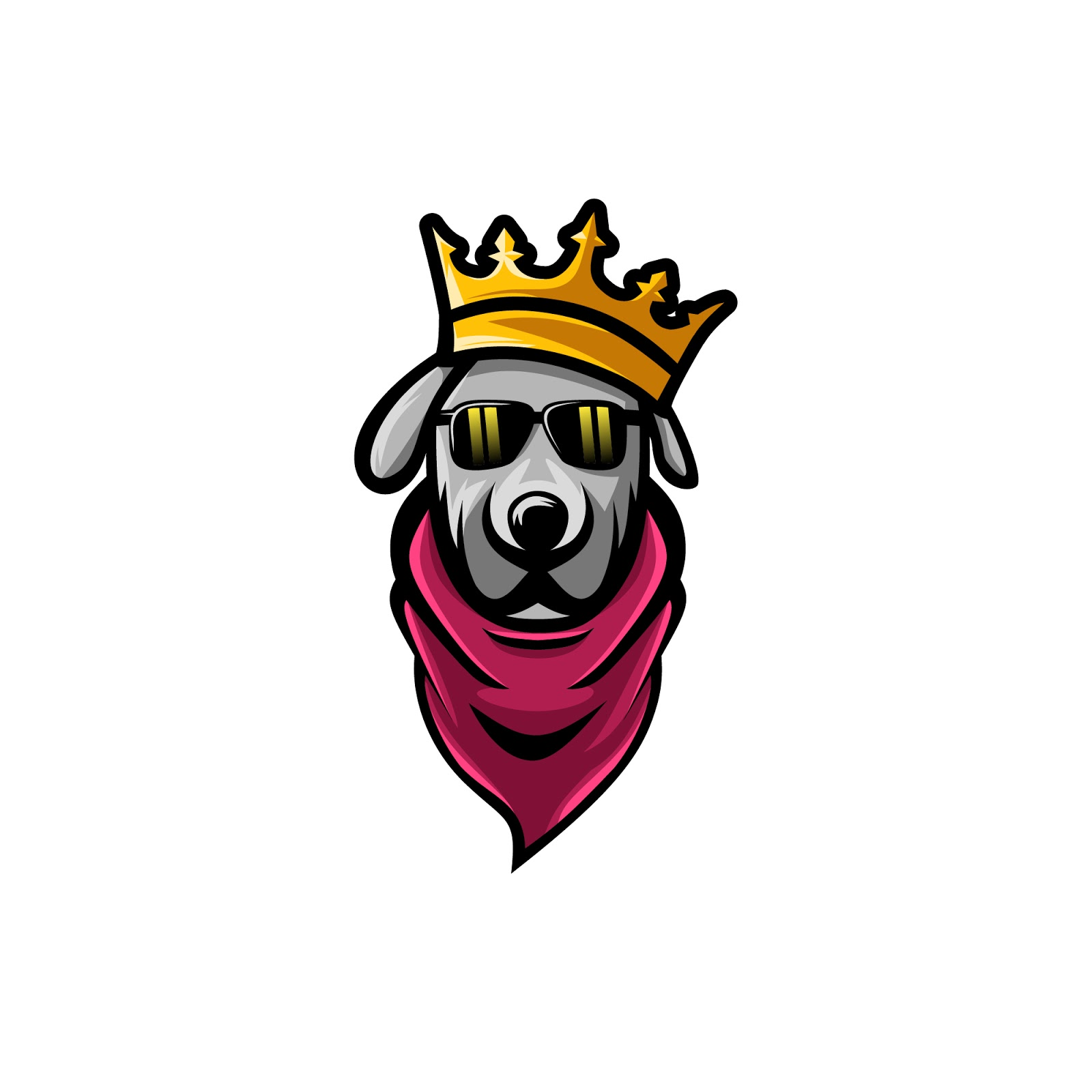 King Dog Simple Premium Vector Free Download Vector CDR, AI, EPS and PNG Formats