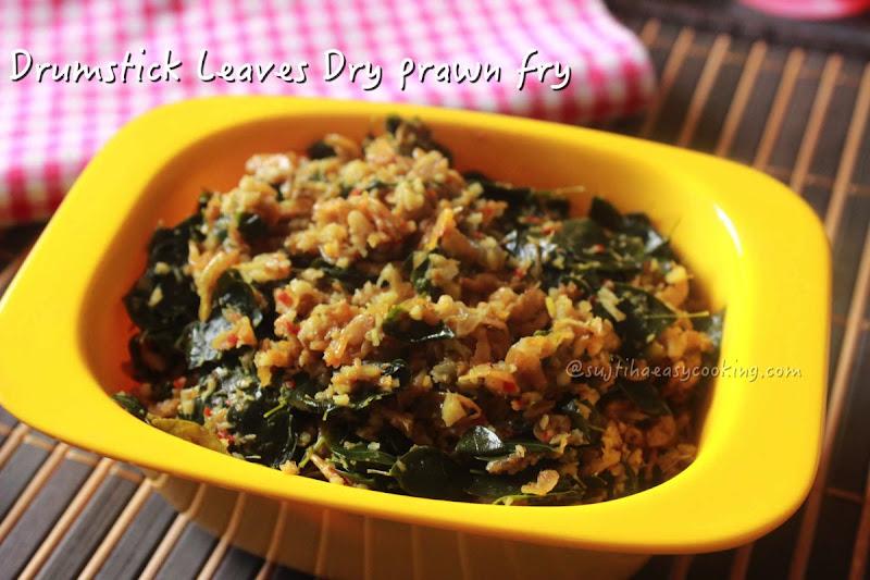 Drumstick Leaves prawn fry2