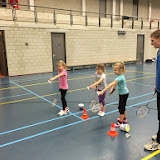 Badmintonles groep 4