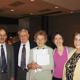 Dave & Betty Bradbury receive Michigan Week Lifetime Volunteer Leadership Award, 2010. L to R: Rob Gregory, Dave, Betty, Gina Gregory, Helen McAllister