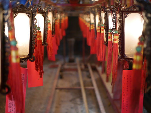 Lanterns at the Man Mo Temple in Sheung Wan, Hong Kong