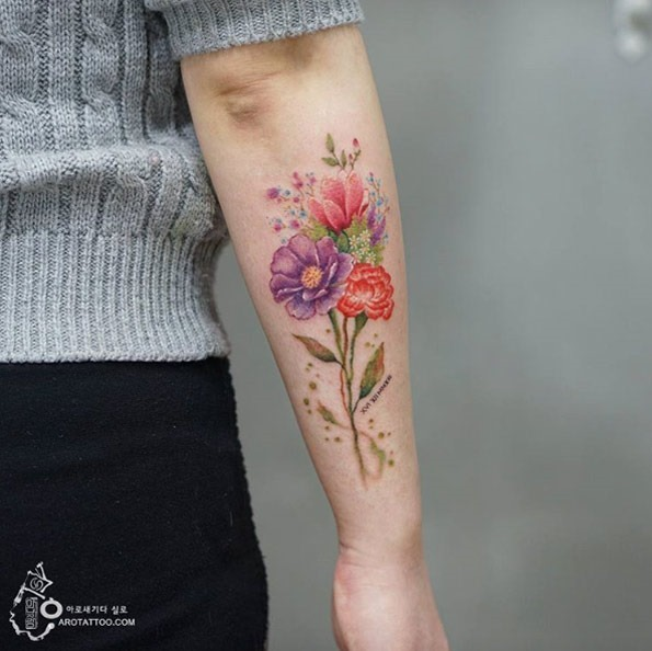 Este lindo bouquet floral