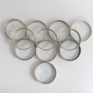 Sterling Silver and Glass Coaster Lot