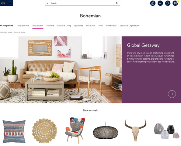 Este es el nuevo diseño web de Walmart