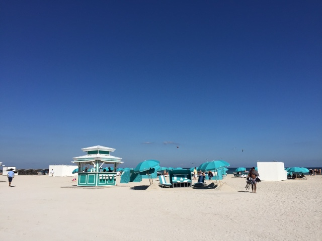 South Beach, Miami is covered with gorgeous beach settings in different colours for different hotels.