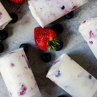 Triple Berry Ice Cream Push-Pops