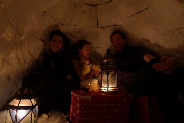 Family life in a Tuscan vineyard - or is it an igloo?