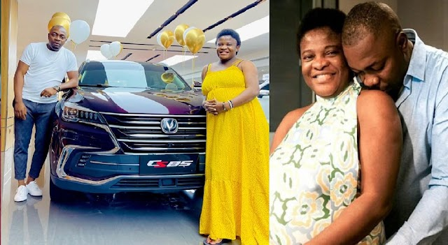 Se.x Therapist, Angela Nwosu's Husband, Soundmind, Gifts Her An SUV As Push Present, Days After They Welcomed Their Daughter