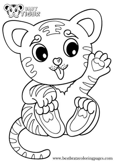 Cute Coloring Pages Of Baby Tiger Free Printable Baby Tiger Coloring Pages  For Kids