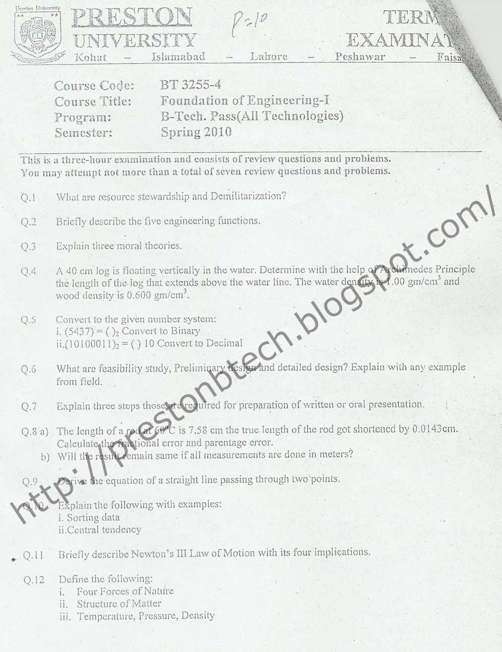 preston university b tech electronics electrical