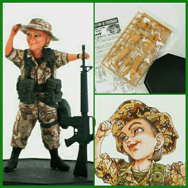 U.S. Army Infantry Woman maqueta