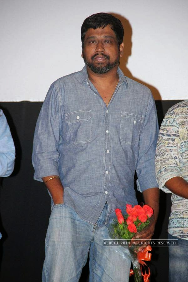M Rajesh during the audio launch of Thirudan Police, in Chennai.