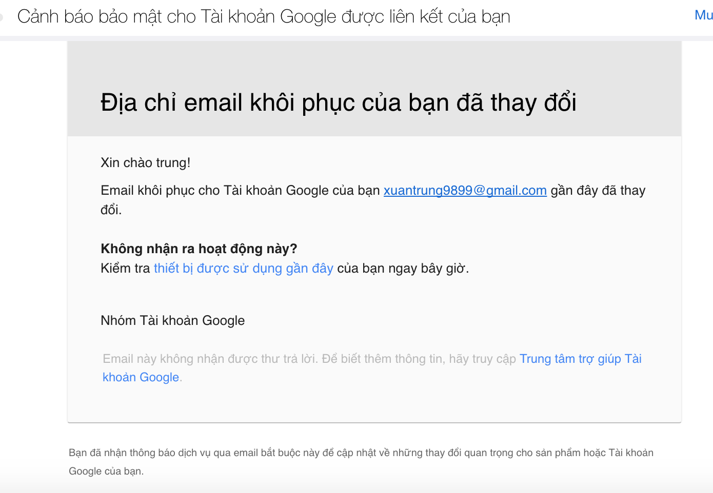 my gmail account has been hacked and changed my account info - Gmail