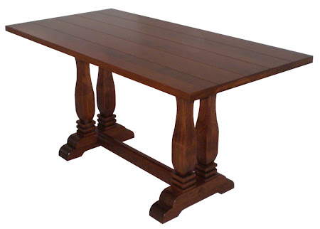 "50"" x 32"" Dane Table in Antique Cherry with custom tabletop"