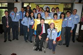 Algunos integrantes de la Delegación Colombia al 22ºWSJ