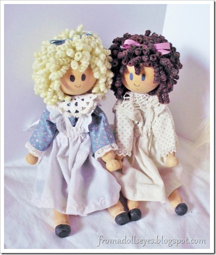 Clothes pin dolls found at a thrift store.