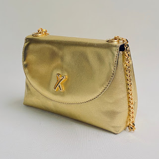 Paloma Picasso Metallic Leather Crossbody Bag