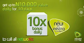 Etisalat introduces Super Bonus Offer (10 times value of your recharge)