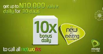 New Etisalat Super 10x Value Bonus Offer Is Here!