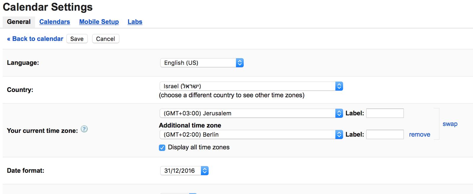 Bug Report Timezones Are Broken In My Google Calendar