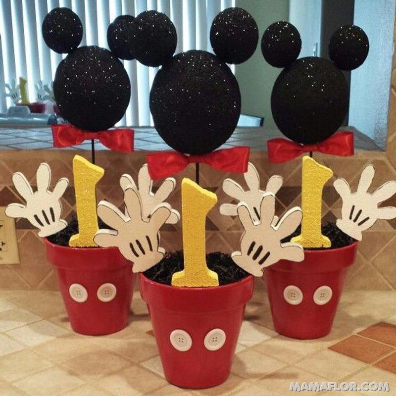 centro de mesa mickey y minnie mouse --- (4)