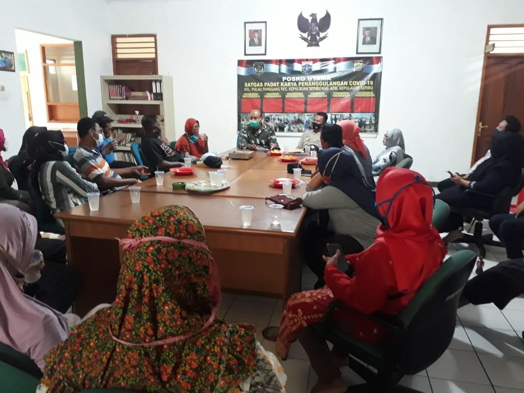 Bati Tuud Koramil 04/KS Beri Arahan Satgas Padat Karya Kepulauan Seribu