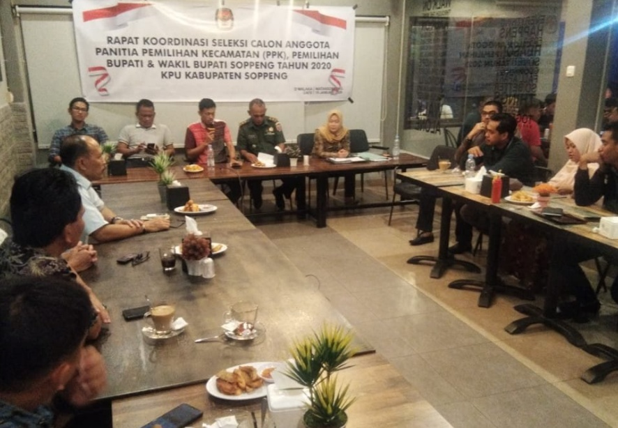 Ketua KPU Soppeng Pimpin Rapat Seleksi Calon Anggota PPK