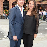 WWW.ENTSIMAGES.COM -  Ben Caring and Elle Caring   arriving at       A Date With Your Dog in Honour of Clarissa Baldwin OBE at George Club, London September 9th 2014Celebrities attending The Dog's Trust party in honour of their chief exec Baldwin.                                                 Photo Mobis Photos/OIC 0203 174 1069