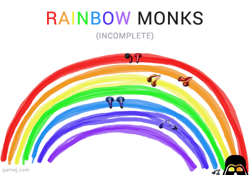 rainbow monks from ve (venture electronics)