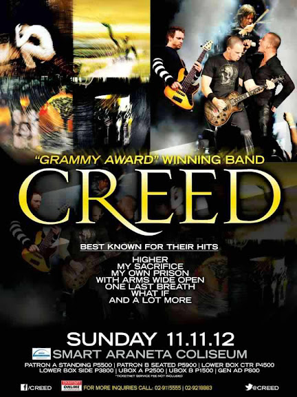 Poster - Creed Live in Manila 2012