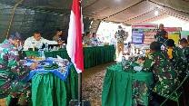 Dansatgas Memaparkan Kegiatan Non Fisik Penyuluhan Pertanian dan Bantuan Bibit ke Tim Masev TNI AD