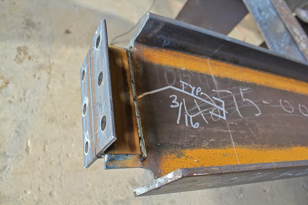 AWS Structural Weld Size Indicated on Member before Welding